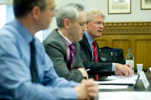 Centro chief exec Geoff Inskip giving evidence to the All Party Parliamentary Group on High Speed Rail