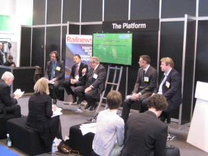 HS2 discussion panel at Infrarail