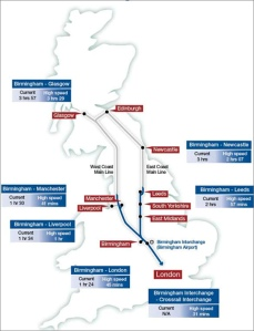 HS2 serving the major cities with the West Midlands right at the heart of the network