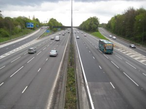 Neither the M40 or M1 follow the most direct route from the West Midlands to London