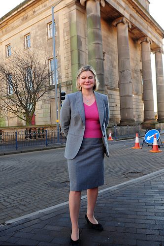 Hard to believe it's a year ago - Justine Greening at the planned site for Birmingham city centre's HS2 station