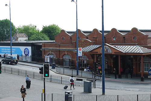 Moor Street station, Birmingham city centre. the site of the planned HS2 station is immediately to the left.