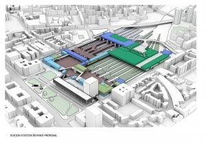 HS2 Ltd image of Euston station, amended plan