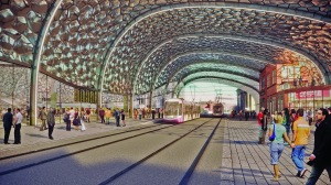 How New Canal St will look in the proposed HS2 Curzon Street station